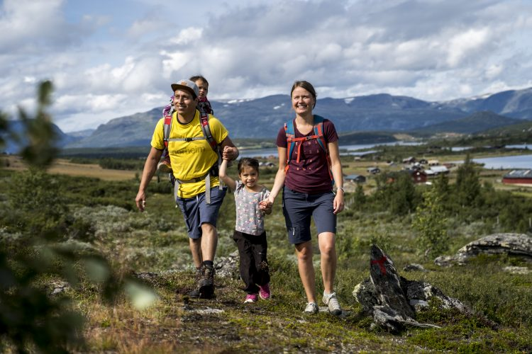 The hiking route is for the whole family, Photo: Yngve Ask