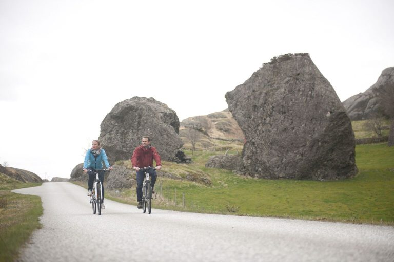 Go hiking, biking and kayaking in the borderline between the fjords and the Atlantic ocean!
